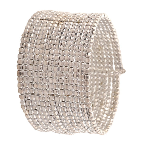 Fashion Beaded Bangle Cuff Bracelet Free Size For Girls And Women