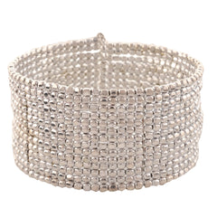 Fashion Beaded Bangle Cuff Bracelet Free Size For Girls And Women - StompMarket
