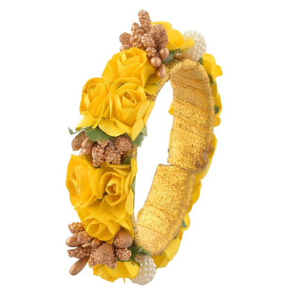 Fashion Adjustable Bangle Mehndi Ceremony With Floral Design