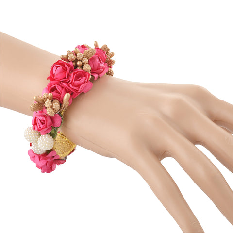 Fashion Adjustable Bangle Mehndi Ceremony With Floral Design - StompMarket