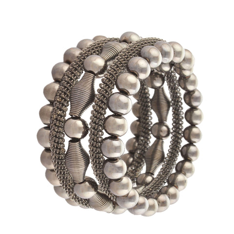 Fashion Beaded Spiral Hand Bracelet Bangle