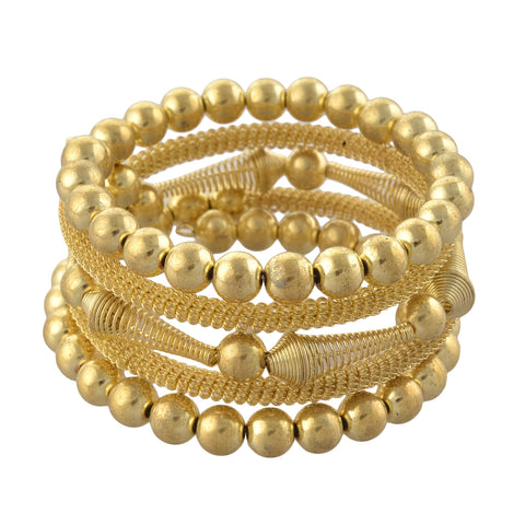 Fashion Beaded Spiral Hand Bracelet Bangle - StompMarket