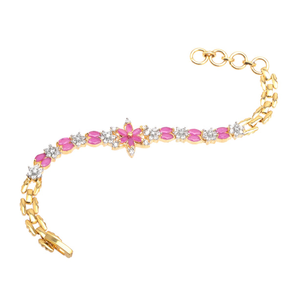 Zephyrr Fashion Gold Tone Bracelet with American Diamond