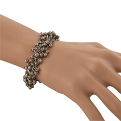 Fashion German Silver Beaded Bracelet For Girls And Women - StompMarket