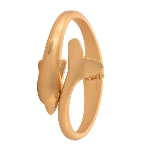 Fashion Gold Tone Trendy Dolphin Bracelet Adjustable For Girls