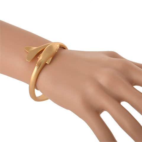 Fashion Gold Tone Trendy Dolphin Bracelet Adjustable For Girls - StompMarket