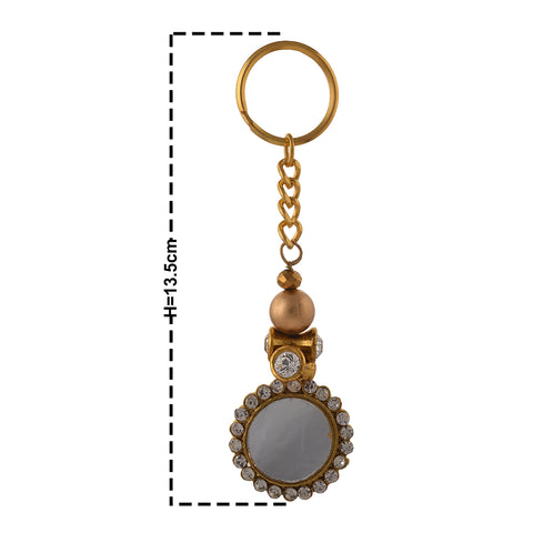 Fancy Key Ring Key Chain Fashion Purse Accessory Tassels Mirrors Zircons - StompMarket