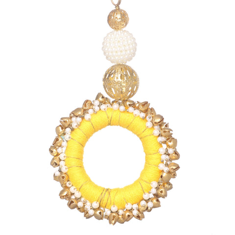 Fancy Key Ring Key Chain Fashion Purse Accessory Tassels With Pearl Beads. - StompMarket