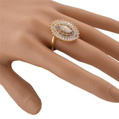 Fashion Adjustable Oval Ring With American Diamonds For Women - StompMarket