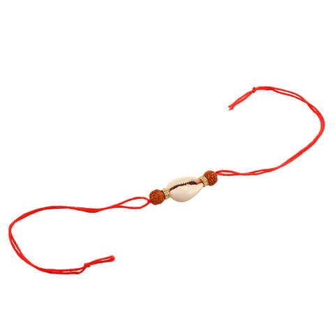 Fashion Beaded Rakhi Raksha Bandhan Rudraksha Pearls Shells Roli Chawal