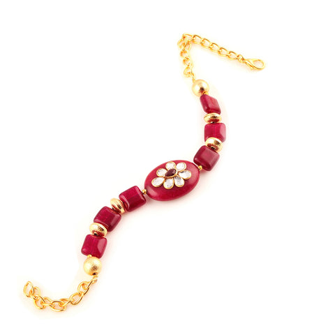 Fashion Handmade Free Size Bracelet With Kundan For Women - StompMarket