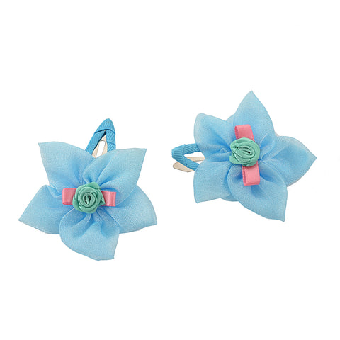 Kids Girls Handmade Rose Floral Tic Tac/Hair Pin/Hair Clip Pair - StompMarket