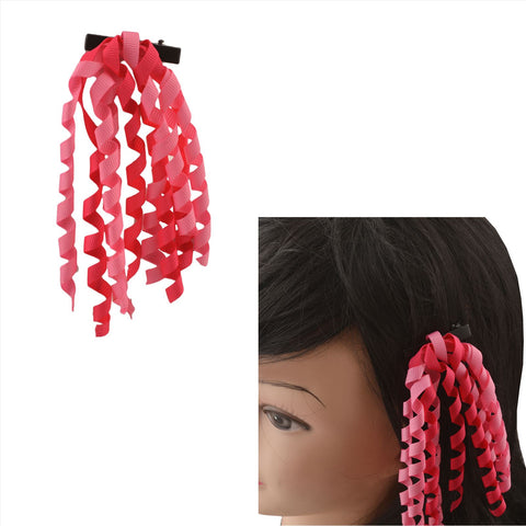 Kids Girls Handmade Hair Pin/ Alligator Clip With Ribbons - StompMarket