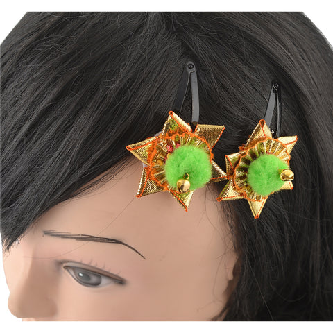 Kids Girls Golden Floral Tic Tac/Hair Pin/Hair Clip Set Of 2 - StompMarket
