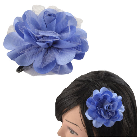 Kids Girls Handmade Single Flower Tic Tac/Hair Pin/Hair Clip - StompMarket