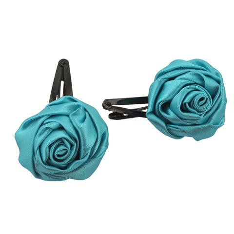 Kids Girls Handmade Rose Zircons Tic Tac/Hair Pin/Hair Clip Pair - StompMarket