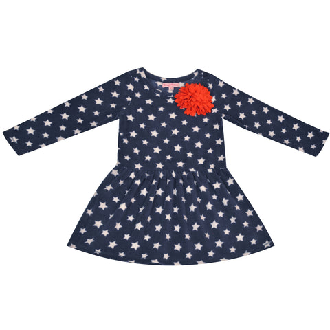 Kids Wear Girls Soft Micropile 100% Polyester Polar Fleece Frock - StompMarket