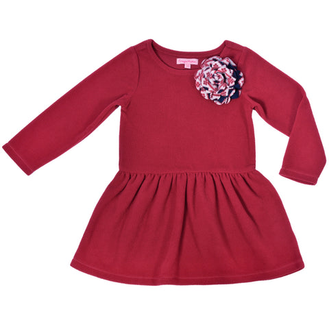Kids Wear Girls Soft Micropile 100% Polyester Polar Fleece Dress
