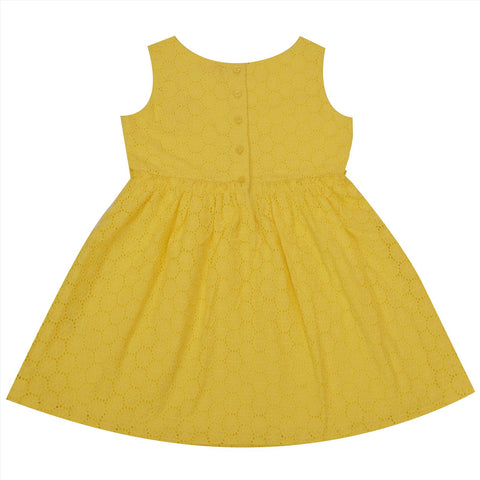 Kids Wear For Girls 100% Cotton Sleeveless Anglaise Frock Dress - StompMarket