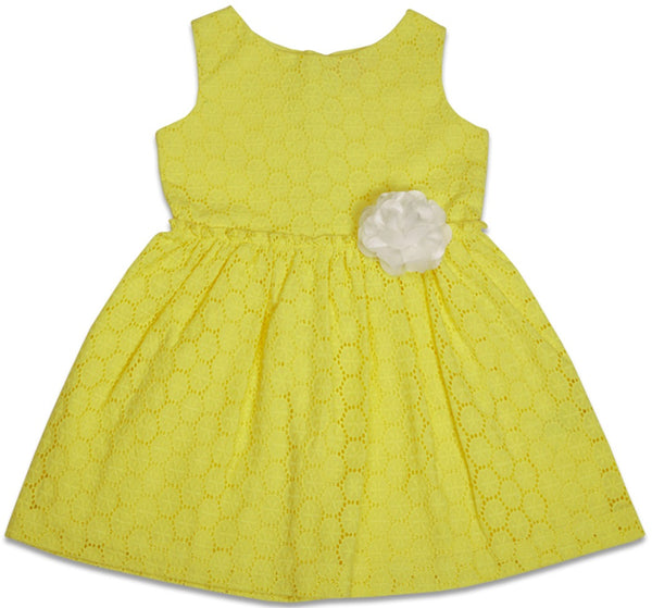 Kids Wear For Girls 100% Cotton Sleeveless Anglaise Frock Dress