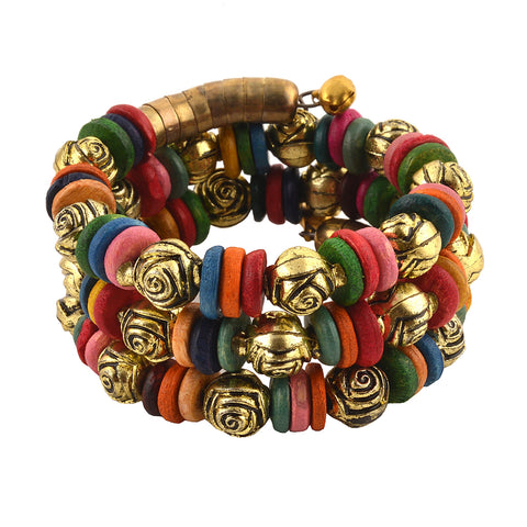 Multicolor Fabric Charm Bracelet For Kids Girls - StompMarket