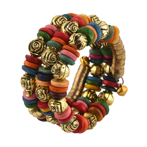 Multicolor Fabric Charm Bracelet For Kids Girls