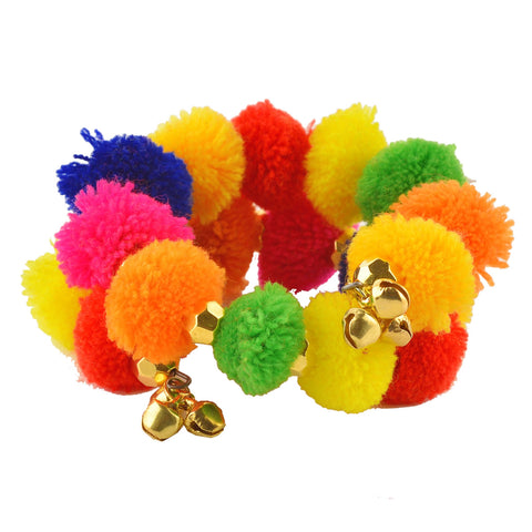 Fashion Beaded Spiral Hand Bracelet Bangle Free size for Kids Girls - StompMarket