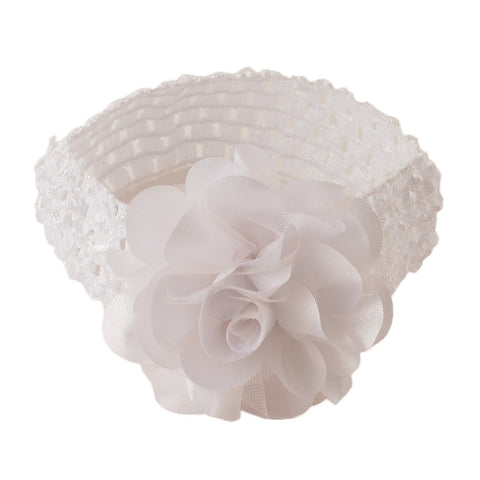 Kids Girls Flower Stretchable Soft Elastic Lace Headband/Head Accessory