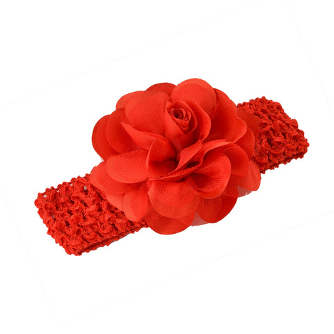 Kids Girls Flower Stretchable Soft Elastic Lace Headband/Head Accessory - StompMarket