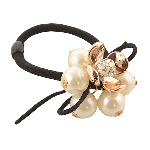 Kids Girls Ponytail Hair Rubberband Holder Hair Accessory Pearls