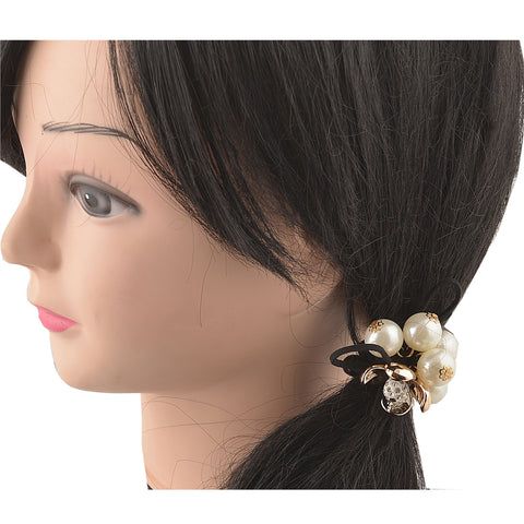 Kids Girls Ponytail Hair Rubberband Holder Hair Accessory Pearls - StompMarket