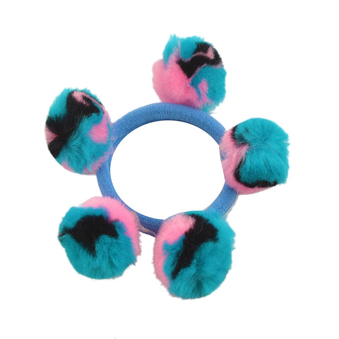 Kids Girls Ponytail Hair Rubber Band Holder Hair Accessory Pompoms - StompMarket