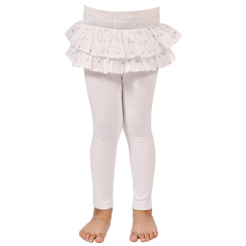 Kids Wear For Girls Cotton Soft Leggings Attached Skirt.