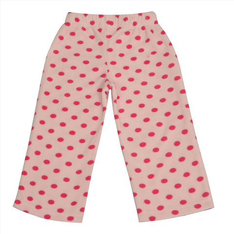 Kids Wear For Girls Fleece Soft Leggings With Bow Polka Dots - StompMarket