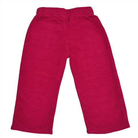 Kids Wear For Girls Solid Color Fleece Soft Leggings With Bow - StompMarket
