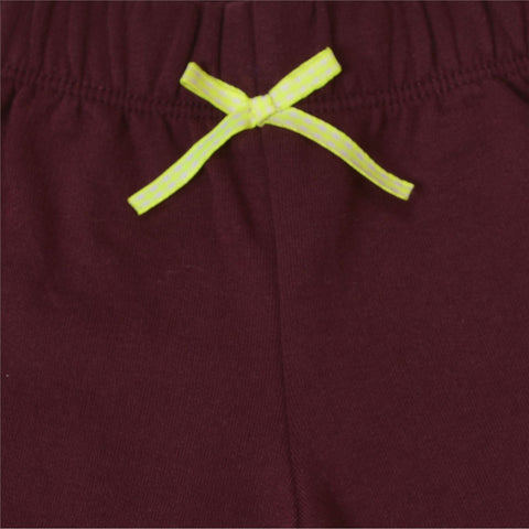 Kids Wear Maroon Elephant Patch Cotton Poly Brushed Fleece Pants - StompMarket