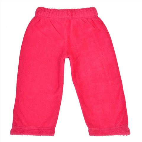 Kids Wear For Girls Fleece Soft Leggings With Rabbit Fur Patchwork - StompMarket