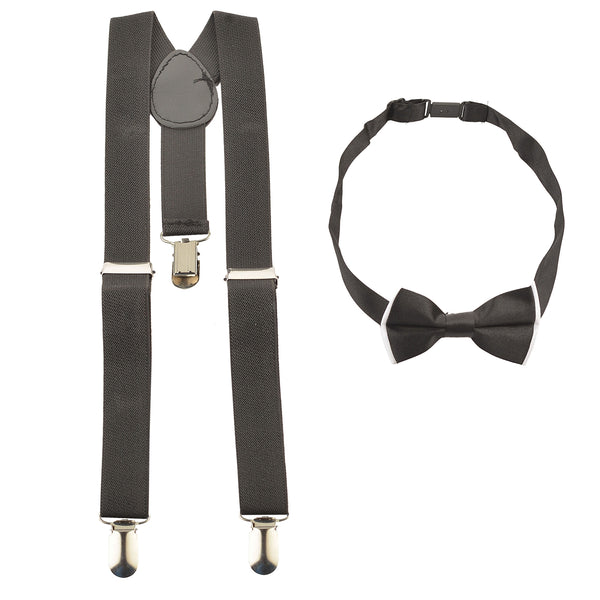 Kids Wear For Boys Suspender & Bow Set Stretchable Free Size