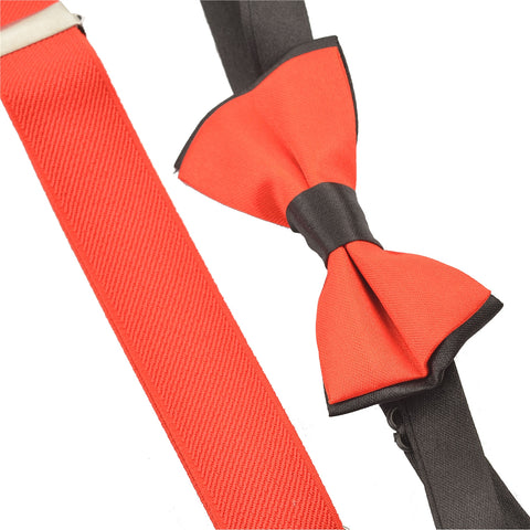 Kids Wear For Boys Suspender & Bow Set Stretchable Free Size - StompMarket