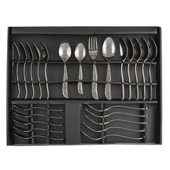 24 Pcs Premium Quality Stainless Steel Cutlery Set For Dinning Table. Ideal For Gifting  - 6 Dessert Spoons, 6 Tea Spoons, 6 Dessert Fork, 6 Baby Spoons - StompMarket