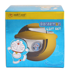 Doraemon Stainless Steel Soup Bowl with Spoon for Kids-1 Soup Bowl, 1 Under Liner, 1 Soup Spoon - StompMarket