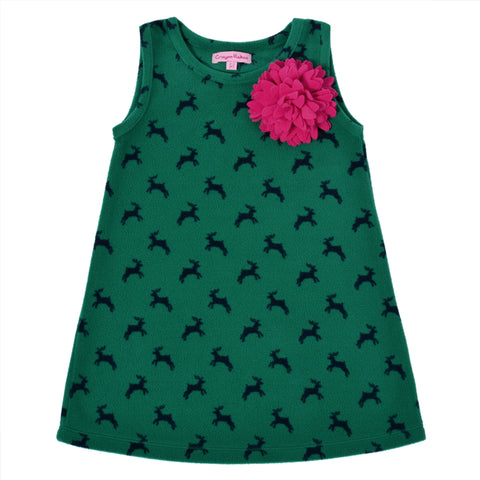 Kids Wear Girls Soft Micropile 100% Polyester Polar Fleece Dress - StompMarket