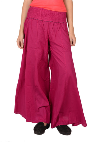 3X Plus Size Plazzos Pants For Women Pure Cotton
