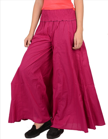 3X Plus Size Plazzos Pants For Women Pure Cotton - StompMarket