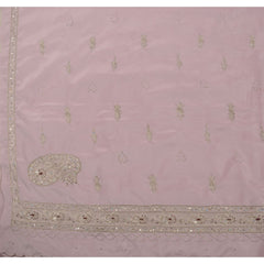 Antique Vintage Indian Saree Art Silk Hand Embroidery Fabric Sari Zari - StompMarket