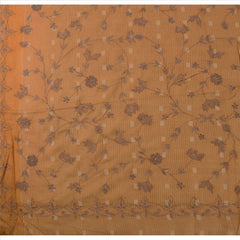 Antique anskriti Vintage Indian Saree 100% Pure Silk Hand Beaded Fabric Sari - StompMarket