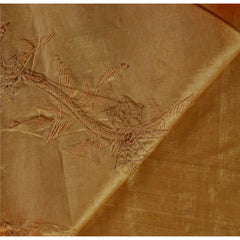 Antique Vintage Indian Saree 100% Pure Silk Hand Beaded Fabric Zardozi Sari - StompMarket