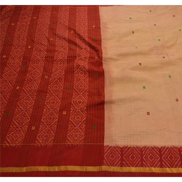 Vintage Indian 100% Pure Silk Saree Woven Fabric Patola Premium Sari
