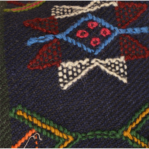 Vintage Fabric Woolen Hand Embroidered Jacket Top Fashion Indian Blue