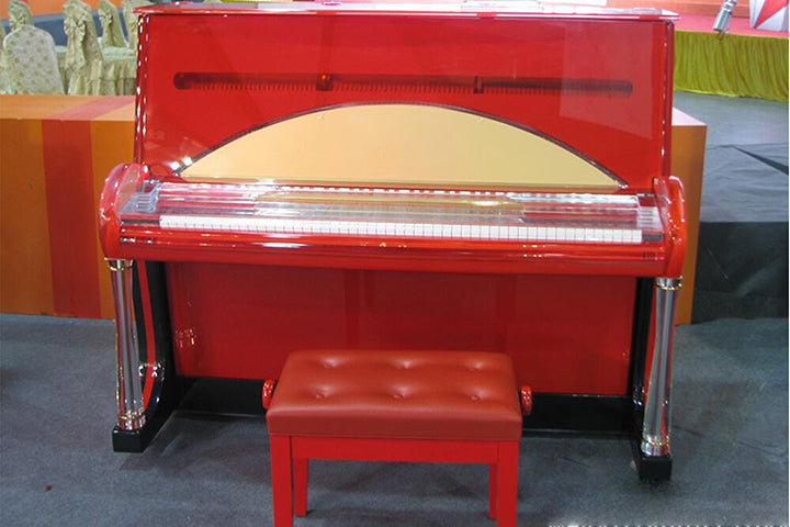 Brand New Red Crystal Upright Piano